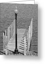 Lamp And Pier Greeting Card