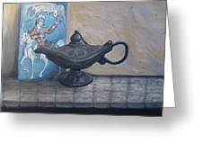 Lamp And Tile Greeting Card