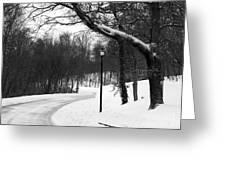 Lamp-light Lane Greeting Card