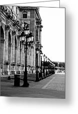 Lamp Post All Lined Up In Order Of Height Greeting Card