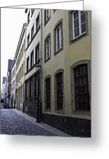 Lamp Post In Cologne Germany Alley Greeting Card