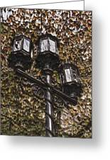 Lamp Post In The Fall Greeting Card