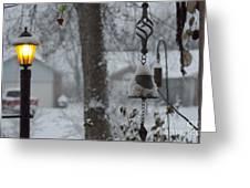 Lamplight At Dawn Greeting Card