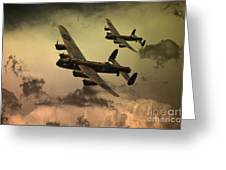 Lancaster Fire In The Sky Greeting Card