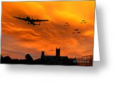 Lancaster Lincoln Sunset Greeting Card