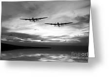 Lancasters Return Mono Version  Greeting Card