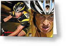 Lance Armstrong Artwork Greeting Card
