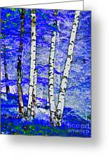 Land Of The Silver Birch Greeting Card