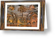 Land Of World 8624042 Framed Greeting Card by Betsy C Knapp