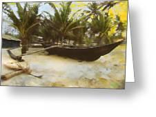 Kayak On Beach Greeting Card