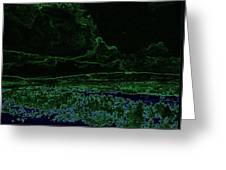 Landcape Glowing Greeting Card