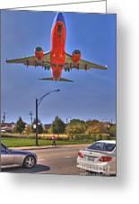 Landing At Midway Greeting Card