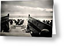 Landing At Normandy On D-day Greeting Card