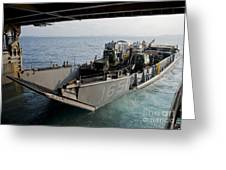 Landing Craft Utility Departs The Well Greeting Card