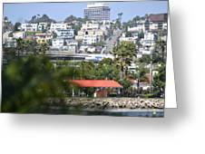 Landing In San Diego Greeting Card