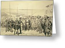 Landing Of A Military Leader Greeting Card