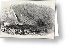 Landing Of A Portion Of The National Army At The Marina Di Greeting Card