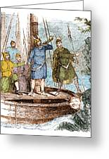 Landing Of The Vikings In The Americas Greeting Card