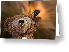 Landing Pad Bear Greeting Card