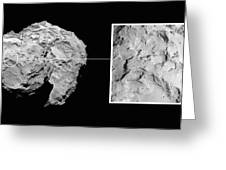 Landing Site On Comet 67pc-g In Context Greeting Card