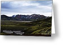 Landmannalaugar Iceland Greeting Card