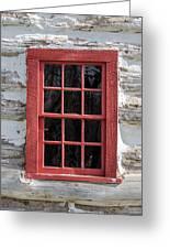 Landow Cabin Window Greeting Card