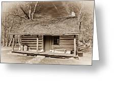 Landow Log Cabin 7d01723b Greeting Card