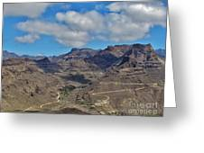 Landscape Amazing Canarian Colors Mountains Greeting Card