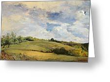 Landscape And Clouds  Greeting Card