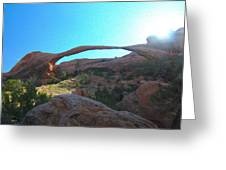Landscape Arch 2 Greeting Card