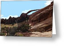 Landscape Arch In Arches National Park Greeting Card