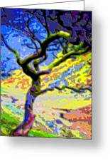 Landscape Art Tree Life Greeting Card