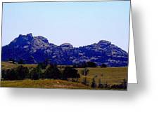 Landscape At 80 Mph Greeting Card