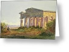 Landscape At Paestum Greeting Card
