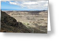 Landscape-canarian Volcanic Mountains Greeting Card