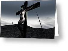 Landscape Crucifiction Greeting Card