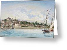 Landscape From Lake Leman To Nyon Greeting Card