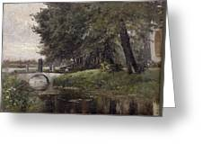 Landscape In Nijmegen. Netherlands Greeting Card