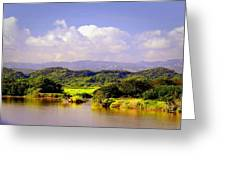 Landscape In Puerto Rico. Greeting Card