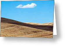 Landscape In Summer Tuscany Italy Greeting Card