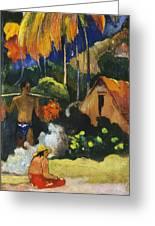 Landscape In Tahiti.mahana Maa Greeting Card