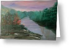 River Dreamscape Greeting Card