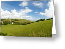 Landscape Near Hallsands In Devon Gb Greeting Card