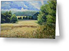 Landscape Near Russian Border Greeting Card