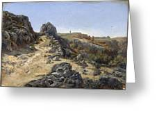 Landscape Near The Monastery Piedra Greeting Card