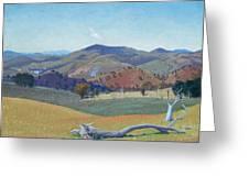 Landscape Near Yass Greeting Card