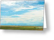 Landscape Of Denver Colorado Greeting Card
