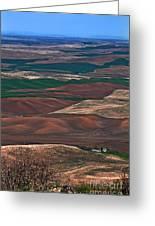 Landscape Of Rolling Farmland Steptoe Butte Washington Art Prints Greeting Card