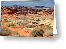 Landscape Of Valley Of Fire State Park Greeting Card