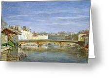 Landscape Oil On Canvas Greeting Card